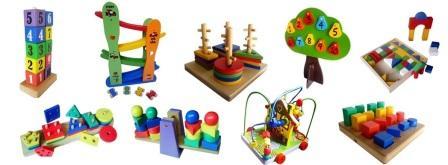 header mainan anak dari kayu